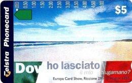 AUSTRALIA $5 75 MILES BEACH   ITALY SHOW AUS-630 TAMURA 1000 ONLY !!! MINT NOT FOR GENERAL SALE !! READ DESCRIPTION !! - Australia