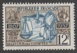 France Neuf Sans Charnière 1957 Cour Des Comptes  YT 1107 - Francia