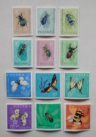Poland Pologne Set 12 Stamps Timbres Insects Insectes 1961 Unused - Insects