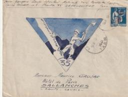 France Lettre Illustrée Du Chantier De Jeunesse N° 35 Labrugriere Tarn RRR - Marcophilie (Lettres)