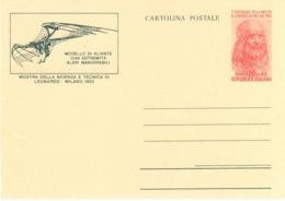 Italy - Stationery - Leonardo Da Vinci - Flying Plane - Stamps