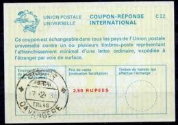 INDE / INDIA La22A 2,50 RUPEESInternational Reply Coupon Reponse Antwortschein IRC IAS o DAVANGERE 31.2.77 - Sin Clasificación