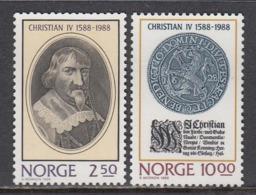 Norway 1988 - Koenig Christian IV, Mi-Nr. 1001/02, MNH** - Norwegen