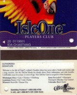 TARJETA DE CASINO - CASINO CARD. ISLEONE CASINO. 010. - Tarjetas De Casino