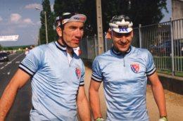 7348 Photo Cyclisme  Dubreuil - Saniez , Championnat De La Police à Sens - Radsport