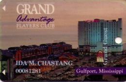 TARJETA DE CASINO - CASINO CARD. GRAND CASINO GULFPORT, MISSISSIPPI. 013. - Tarjetas De Casino