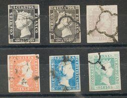 º1/5. 1850. Serie Completa. Buenos Márgenes Y Matasellos Limpios. MAGNIFICA Y RARA. - Spagna