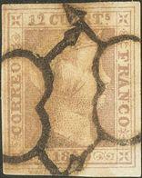 º2. 1850. 12 Cuartos Lila. MAGNIFICO. - Spagna