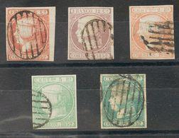 º12/16. 1852. Serie Completa (el 6 Reales Leve Adelgazamiento). BONITA. (el 2 Reales Certificado CEM). - Spagna
