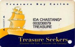TARJETA DE CASINO - CASINO CARD. TREASURE BAY CASINO. 012. - Tarjetas De Casino