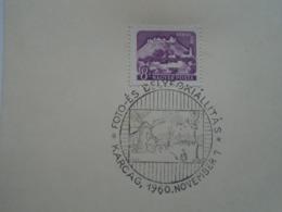 KA1018.2 Hungary  -     Bélyeg Kiállítás -  Stamp Exhibition  KARCAG  1960 Windmill - Expositions Philatéliques