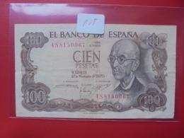 ESPAGNE 100 PESETAS 1970 CIRCULER - [ 3] 1936-1975 : Regime Di Franco