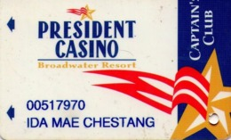 TARJETA DE CASINO - CASINO CARD. PRESIDENT CASINO. 004. - Tarjetas De Casino