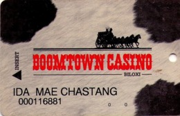 TARJETA DE CASINO - CASINO CARD. BOOMTOWN CASINO BILOXI. 009. - Tarjetas De Casino