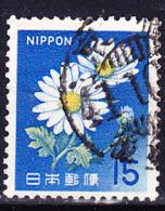 Japan - Chrysantheme (Chrysanthemum Japonense) Blaue Wertziffern (MiNr: 930) 1966 - Gest Used Obl - 1926-89 Emperor Hirohito (Showa Era)