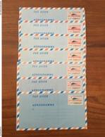 LOT DE 14 AÉROGRAMMES 1982 à 2002 - Neufs - Pliés - Aérogrammes