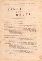 "WWII WW2 Flugblatt Tract Leaflet Листовка Soviet Propaganda Against Germany ""EINST UND HEUTE"" - 1939-45"