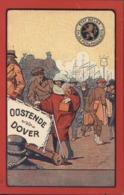 Entier CP Publicitaire Oostende Dover Etat Belge Chemin De Fer Paquebot Neuf Timbré Sur Commande Albert 1er Violet 15ct - Stamped Stationery