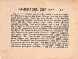 """WWII WW2 Flugblatt Tract Leaflet Листовка Soviet Propaganda Against Germany """"KAMERADEN DER 227. I.D.!"""" - 1939-45"""