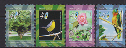 ST. LUCIA, 2019, MNH, 40TH ANNIVERSARY OF INDEPENDENCE, BIRDS, PARROTS, ROSES, 4v - Pappagalli & Tropicali