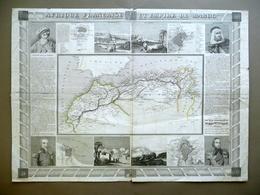 Carta Topografica Afrique Francaise Maroc Pays Barbaresques Vuillemin Metà '800 - Altre Collezioni