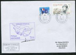 15448 T.A.A.F N°495, 557 °  Gérant Postal : Philippe Dieudonné    Du  3.1.2011    TB - Cartas