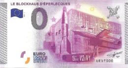 Billet 0 Euro FRANCE  Blockhaus Eperlecques 2015.1 - EURO