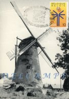 HECHTEL-EKSEL (Limburg) - Molen/moulin Filatelie - Close-up V.d. Verdwenen Stenen Windmolen Sint-Antonius (met Stempel) - Hechtel-Eksel