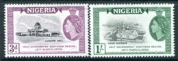Nigeria 1959 Attainment Of Self-government Set LHM (SG 83-84) - Nigeria (...-1960)