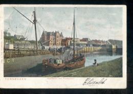Terneuzen Westhaven Postkantoor Schip 1904 - Hoek Grootrond - Terneuzen