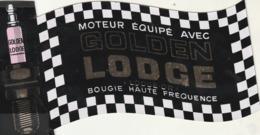 Rare Autocollant Bougie Golden Lodge Voiture De Sport - Stickers