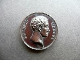 Medaglia Antonio Canova Al Secolo Decimo Nono Bronzo Arte Originale Putinati - Gettoni E Medaglie