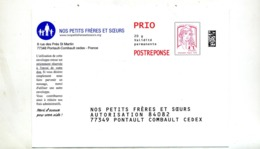 Pap Reponse Ciappa Petits Freres Et Soeurs - Postal Stamped Stationery