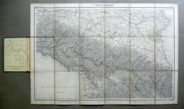 Carta Topografica Provinz Parma Modena Emilia Toscana G. Mayr 1899 - Altre Collezioni