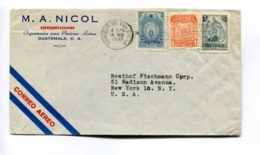 GUATEMALA COMMERCIAL COVER CIRCULATED TO NEW YORK, U.S.A., YEAR 1947 AIR MAIL  -LILHU - Guatemala