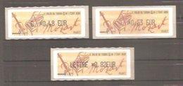 LISA 1 Type AI - Salon Du Timbre Et De L'Ecrit - PARIS 2006.Hommage à Mozart. Valeurs EUR.: 0,48 / 0,53 / 0,82. Neuves. - 1999-2009 Abgebildete Automatenmarke