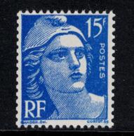 TIMBRE GANDON N° 886 15F BLEU Au TYPE III ISSU De ROULETTE NEUF ** SANS CHARNIERE - 1945-54 Marianne De Gandon