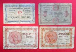 1920 + Ou - Lot De 8 Billets De Nécessité Chambres De Commerce France Usagé à Trier - Bons & Nécessité