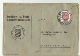 DR CV 1923  NEU ULM 98 - Storia Postale