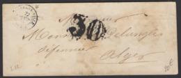 ALGERIE: Pli De ORLEANSVILLE De 1855 Avec Cà Date ORLEANS-VILLE ALGERIE Pour ALGER - Marcophilie (Lettres)