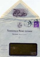 SEGRE Tanneries René Lepage / LSC De 1934 > Bavay TB - Marcofilie (Brieven)