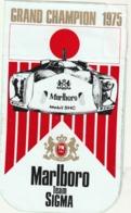 Rare Autocollant Grand Champion 1975 Marlboro Team Sigma - Stickers