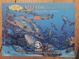 Papua New Guinea-2011 Grouper Fish Minisheet MNH - Fishes