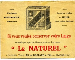 MARSEILLE Savons LE NATUREL Alfred Rostand / LSC De 1915 TB - 1877-1920: Periodo Semi Moderno