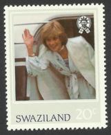 Swaziland, 20 C. 1982, Sc # 407, MNH, Princess Diana. - Swaziland (1968-...)