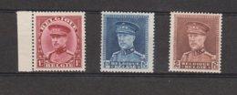 Belgique 317-320-321 Tous** - 1931-1934 Kepi