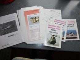 Hélicoptères, Lot Informations Techniques Et PUB Puma Et Alouette III Héli-Union ; L 02 - Andere Plannen