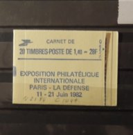 11 - 19 //  France Carnet N°2186  Philexfrance 82 - Gomme Mate - La Gomme Est Presque Jaune Comme Le Carnet !!! - Markenheftchen