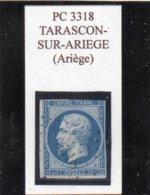 Ariège - N° 14A (déf) Obl PC 3318 Tarascon-sur-Ariège - 1853-1860 Napoléon III