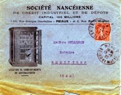 MEAUX, Société Nancéienne De Crédit Industriel, Rue Georges Courteline  / LSC De 1932 > Morcerf B/TB - Postmark Collection (Covers)